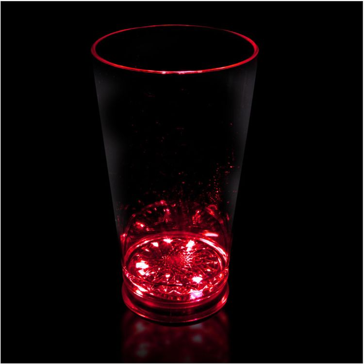 Red LED and Light-Up Pint Glass-16oz LIT825EA
