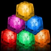 Assorted Color Led Lited Ice Cubes - 12 Per Pack