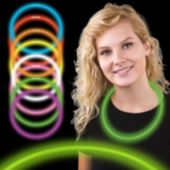 "22"" Green Supreme Glow Necklaces  6mm Thick   50 Per Tube"