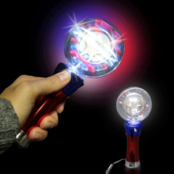 Red, White, and Blue LED Spinner Wand