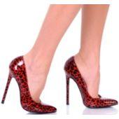 Red Leopard Women's Pump Shoe - Size 8