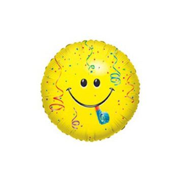 Smiley Face Birthday Balloon - 18 Inch