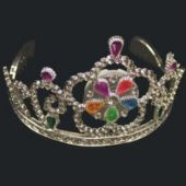 Jeweled Tiaras - 12 Pack