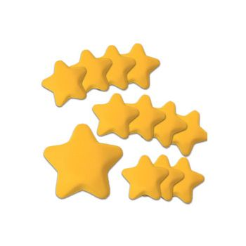 "STAR SHAPE   3"" STRESS BALLS"