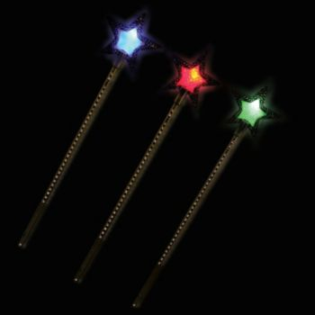 LED Fairy Princess Wands - 13.5 Inch, 12 Pack