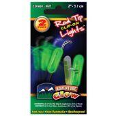 Green Glow Fishing Rod Clip On Light - 2 Per Unit