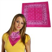 Pink Cotton Bandanas - 12 Pack
