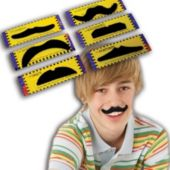 Assorted Mustaches - 12 Pack