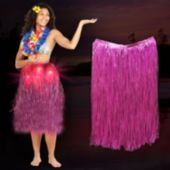 Pink LED and Light-Up Hula Skirt
