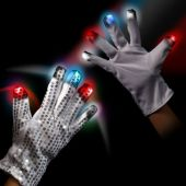 Patriotic LED and Light-Up Sequin Glove