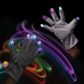 LED Sequin Rock Star Kid's Gloves - 1 Pair