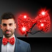 Red LED Sequin Bowtie