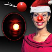 Red LED Nose - 12 Pack