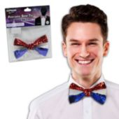 Patriotic Sequin Bowtie