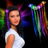Multi-Color LED Fiber Optic Hair Clip