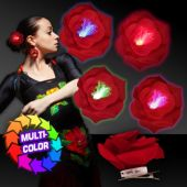 Red Rose LED Hair Clip