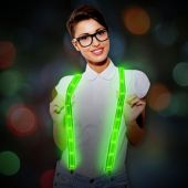 Green LED and Light-Up Suspenders