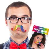 Rainbow Handlebar Mustache
