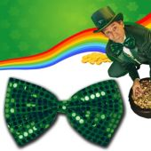 Glitzy Green Sequin Bow Tie