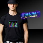 Graphic Equalizer Electro Luminescent T-Shirt