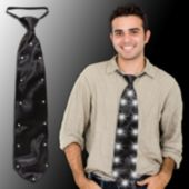 Black LED and Light-Up Necktie