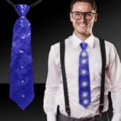 Blue Sequin LED Necktie