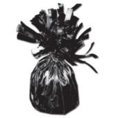 "Black Foil Balloon 2 1/2"" Weight"