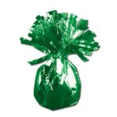 Green Foil Balloon Weight - 2.5 Inch