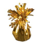 Gold Foil Balloon Weight - 2.5 Inch