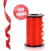 Red Crimped Curling Ribbon - 500 Yards