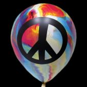 Peace Tie Dye Latex Balloons - 11 Inch, 25 Pack