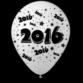 "2016 White 14"" Balloons - 25 Per Unit"