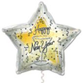 "Happy New Year Metallic Star 18""  Balloon"