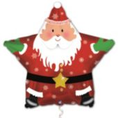 "Santa Star Metallic 18"" Balloon"