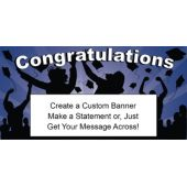 Dark Blue Graduation Custom Banner