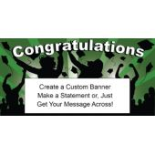 Green Graduation Custom Banner