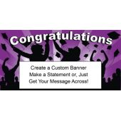 Purple Graduation Custom Banner
