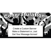 Black & White Graduation Custom Banner