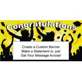 Yellow Graduation Custom Banner