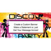 Neon Color Disco Party Custom Banner