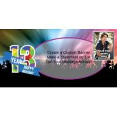 13th Birthday Custom Photo Banner
