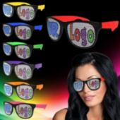 Custom Assorted Color Neon Billboard Sunglasses