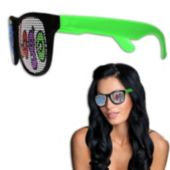 Custom Neon Billboard Green Sunglasses