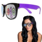 Custom Neon Billboard Purple Sunglasses