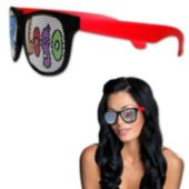 Custom Neon Red Billboard Sunglasses