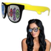 Custom Neon Billboard Yellow Sunglasses