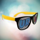 Neon Yellow Party Custom Sunglasses-12 Pack