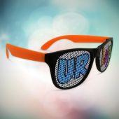 Neon Orange Party Custom Sunglasses-12 Pack