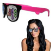 Neon Pink Party Custom Sunglasses-12 Pack
