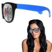 Custom Neon Billboard Blue Sunglasses
